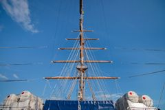 Tall Ships event. Is a big nautical event where big majestic ships with sails are presented to the public for visitation Royalty Free Stock Photo