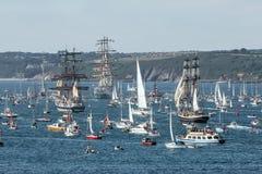 Tall Ships Festival, Falmouth , Cornwall, UK royalty free stock photos