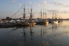 Tall Ships on the Fox River Royalty Free Stock Image