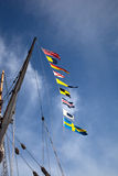 Tall ships at Holyhead bunting Royalty Free Stock Photos