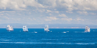 The Tall Ships Leave Melbourne Royalty Free Stock Photography