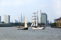 Tall Ships in London Stock Image