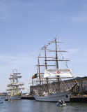 Tall Ships Mircea and Cisne Branco Stock Images