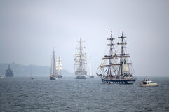 Tall ships parade Stock Photos
