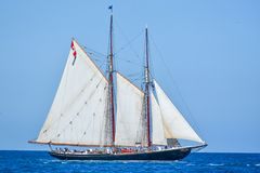 Free Tall Ships Parade On Lake Michigan In Kenosha, Wisconsin Stock Photo - 154993210
