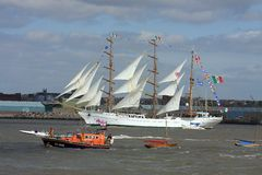At the tall ships parade of sail Stock Images