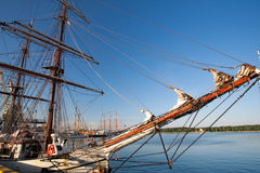 Tall ships in port Stock Images