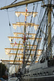 Tall ships in a port Stock Photo