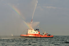 The Tall Ships Races - Firefighter Vessel Show. Stock Photos