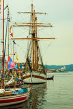 Tall Ships Races in harbour on July 25, 2014 in Bergen, Norway. Royalty Free Stock Image