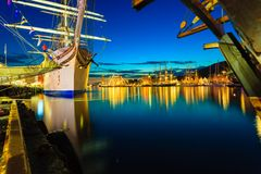 Tall Ships Races in harbour on July 26, 2014 in Bergen, Norway. Royalty Free Stock Image