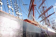 Big sailing ship in port of Szczecin Royalty Free Stock Photo