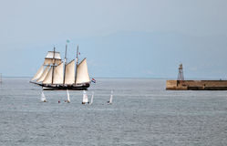 Tall Ships Regatta 2010 - The ship Oosterschelde Royalty Free Stock Photo