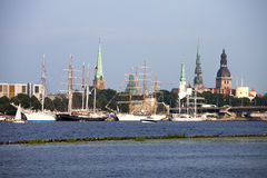 Tall ships in Riga Royalty Free Stock Images
