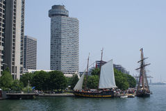 Tall ships visit downtown Toronto by Peter J. Restivo Stock Photos