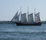 Tall ships visit downtown Toronto under full sail on Lake Ontario by Peter J. Restivo Stock Images
