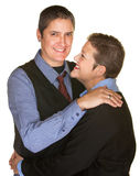 Tall and Short Couple Hugging Royalty Free Stock Images