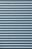 Tall shot of blue corrugated metal Royalty Free Stock Photo