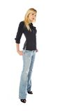 Tall skinny blond Stock Images