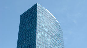 Tall skyscraper. A tall boston building or a skyscraper and a blue sky Royalty Free Stock Photos
