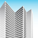 Tall Skyscraper. An image of a 3d tall white set of skyscrapers Stock Photos