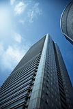 Tall Skyscraper. A tall skyscaper view from below royalty free stock images
