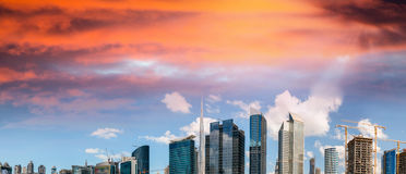 Tall skyscrapers of Downtown Dubai, UAE Stock Photography