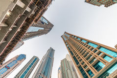 Tall skyscrapers of Dubai Marina, UAE Royalty Free Stock Photography