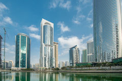 Tall skyscrapers in Dubai Royalty Free Stock Images