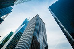 Tall skyscrapers shot. With perspective Royalty Free Stock Images
