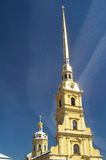 Tall spire of Russian church Stock Photography