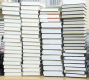 Tall stack of books Stock Photo