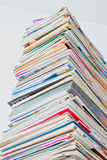 Tall Stack of Magazine, HDR Color Stock Images