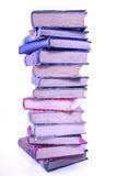 Tall stack of old books Royalty Free Stock Image