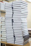 Tall stacks of thick books Royalty Free Stock Photography