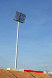 Tall stadium lights with sky Royalty Free Stock Photography
