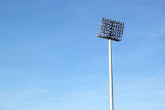 Tall stadium lights with sky Stock Photography