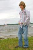 Tall teenager Stock Photo