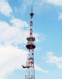 Tall telecommunication towers with antennas Royalty Free Stock Photography