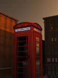 Tall Telephone Box Royalty Free Stock Photo