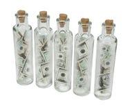 Tall Thin Bottles Stock Photography