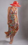 Tall Thin Woman in Maxi Dress Royalty Free Stock Photo