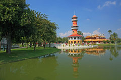 The tall tower in Bang Pa-In Palace, Royalty Free Stock Photography