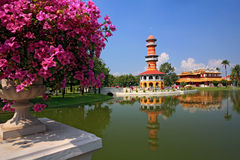 The tall tower in Bang Pa-In Palace, Royalty Free Stock Photo