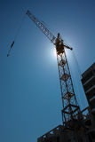 Tall Tower Crane Royalty Free Stock Images