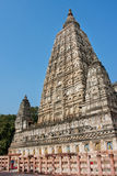 Tall towers of buddhist Mahabodhi Temple Royalty Free Stock Photography