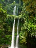 Tall tropical waterfall in the jungle Royalty Free Stock Photo