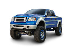 Tall Truck. A lifted passenger truck isolated on white. Clipping Path on vehicle. See my portfolio for more automotive images stock photo