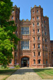 Tall tudor tower. Tall tudor brick tower from front Stock Image