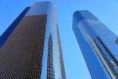 Tall Twin Glass Building Stock Images